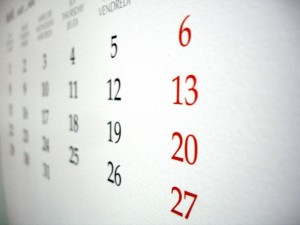 Calendarul zilelor libere in 2014