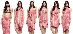 Cum sa porti un pareo sub forma de rochie, fusta sau top. Vezi cele mai diverse exemple!