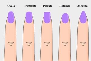 Afla ce forme de unghii ti se potrivesc in functie de degete